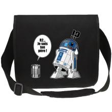 Sac bandoulière Canvas  parodique R2-D2 - Je suis ton père : Boîte de conserve ... (Parodie )