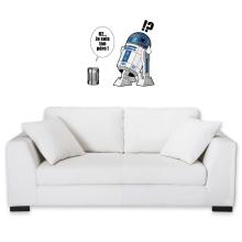 Sticker Mural  parodique R2-D2 - Je suis ton père : Boîte de conserve ... (Parodie )
