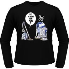 T-Shirts à manches longues  parodique R2-D2 : R2, je suis ton père (Super Deformed) (Parodie )