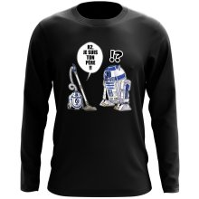 T-Shirt à manches longues  parodique R2-D2 : R2, je suis ton père (Super Deformed) (Parodie )