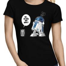 T-shirts Femmes  parodique R2-D2 - Je suis ton père : Boîte de conserve ... (Parodie )