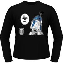 T-Shirts à manches longues  parodique R2-D2 - Je suis ton père : Boîte de conserve ... (Parodie )
