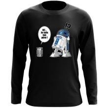 T-Shirt à manches longues  parodique R2-D2 - Je suis ton père : Boîte de conserve ... (Parodie )