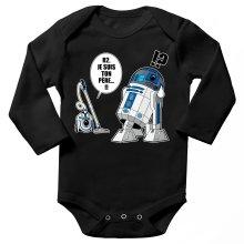 Body bébé manches longues  parodique R2-D2 le Droïd d