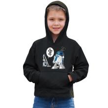 Sweat à capuche Enfant  parodique R2-D2 le Droïd d