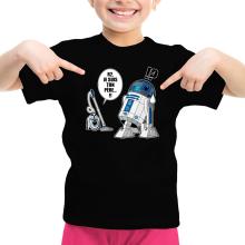 T-shirt Enfant Fille  parodique R2-D2 le Droïd d