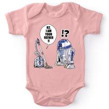 Funny Baby Bodysuit (Baby Girls) - R2-D2 ( Parody)