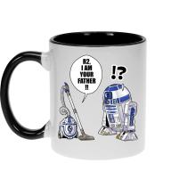 Mug  parodique R2-D2 : R2, je suis ton père ! (en VO remasterisée) (Parodie )