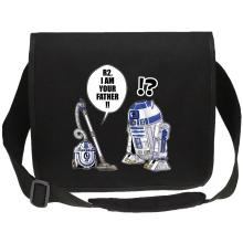 Sac bandoulière Canvas  parodique R2-D2 : R2, je suis ton père ! (en VO remasterisée) (Parodie )