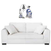 Funny  Wall Sticker - R2-D2 ( Parody) (Ref:867)