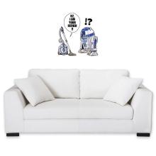 Sticker Mural  parodique R2-D2 : R2, je suis ton père ! (en VO remasterisée) (Parodie )