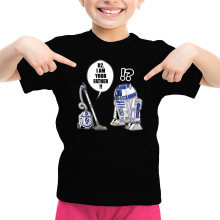 Funny  Girls Kids T-shirt - R2-D2 ( Parody) (Ref:867)