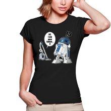 T-shirts Femmes  parodique R2-D2 : R2... Je suis ton père ! (en VO remasterisée !) (Parodie )