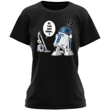 T-shirts Femmes (French Days)  parodique R2-D2 : R2... Je suis ton père ! (en VO remasterisée !) (Parodie )