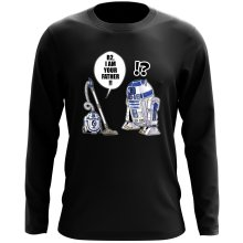 T-Shirt à manches longues  parodique R2-D2 : R2, je suis ton père ! (en VO remasterisée) (Parodie )