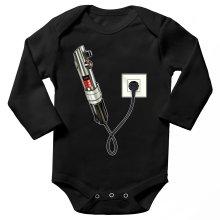 Body bébé manches longues  parodique Le sabre laser : Sabre Laser... en Charge ! (Parodie )
