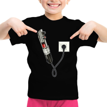 T-shirt Enfant Fille  parodique Le sabre laser : Sabre Laser... en Charge ! (Parodie )