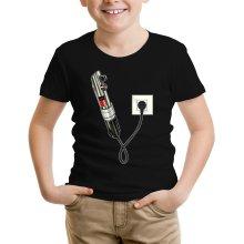 T-shirt Enfant  parodique Le sabre laser : Sabre Laser... en Charge ! (Parodie )