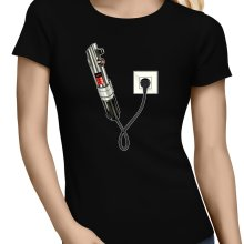 T-shirts Femmes  parodique Le sabre laser : Sabre Laser... en Charge ! (Parodie )