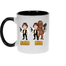 Mug  parodique Le Duo Han Solo et Chewbacca : Solo Duo :) (Parodie )