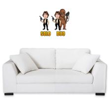 Sticker Mural  parodique Le Duo Han Solo et Chewbacca : Solo Duo :) (Parodie )