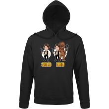 Sweats à capuche  parodique Le Duo Han Solo et Chewbacca : Solo Duo :) (Parodie )