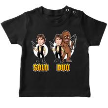 T-shirt bébé  parodique Le Duo Han Solo et Chewbacca : Solo Duo :) (Parodie )