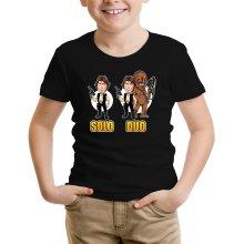 T-shirt Enfant  parodique Le Duo Han Solo et Chewbacca : Solo Duo :) (Parodie )