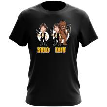 T-shirt  parodique Le Duo Han Solo et Chewbacca : Solo Duo :) (Parodie )