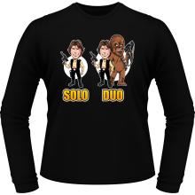 T-Shirts à manches longues  parodique Le Duo Han Solo et Chewbacca : Solo Duo :) (Parodie )