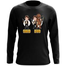 T-Shirt à manches longues  parodique Le Duo Han Solo et Chewbacca : Solo Duo :) (Parodie )