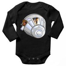 Body bébé manches longues  parodique Han Solo et Chewbacca : Star Dog :) (Parodie )