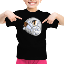 T-shirt Enfant Fille  parodique Han Solo et Chewbacca : Star Dog :) (Parodie )