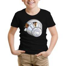 T-shirt Enfant  parodique Han Solo et Chewbacca : Star Dog :) (Parodie )