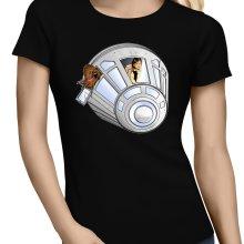 T-shirts Femmes  parodique Han Solo et Chewbacca : Star Dog :) (Parodie )