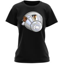 T-shirt Femme  parodique Han Solo et Chewbacca : Star Dog :) (Parodie )