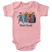 Funny Baby Bodysuit (Baby Girls) - Eddard, Catelyn, Robb, Sansa, Arya, Brian, Rickon and Tony Stark ( Parody)
