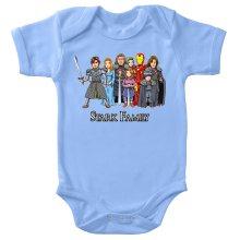 Funny Bodysuits - Eddard, Catelyn, Robb, Sansa, Arya, Brian, Rickon and Tony Stark ( Parody)