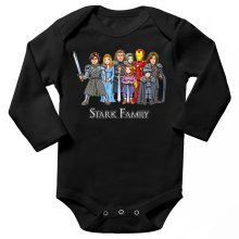 Funny Long sleeve Baby Bodysuit - Eddard, Catelyn, Robb, Sansa, Arya, Brian, Rickon and Tony Stark ( Parody)