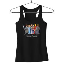 Funny Tank Tops - Eddard, Catelyn, Robb, Sansa, Arya, Brian, Rickon and Tony Stark ( Parody)