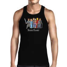 Funny Tank Top - Eddard, Catelyn, Robb, Sansa, Arya, Brian, Rickon and Tony Stark ( Parody)
