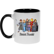 Funny Mugs - Eddard, Catelyn, Robb, Sansa, Arya, Brian, Rickon and Tony Stark ( Parody)