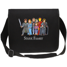 Funny Canvas Messenger Bag - Eddard, Catelyn, Robb, Sansa, Arya, Brian, Rickon and Tony Stark ( Parody)