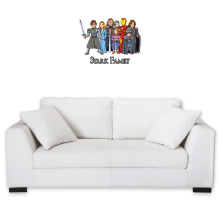 Funny Wall Sticker - Eddard, Catelyn, Robb, Sansa, Arya, Brian, Rickon and Tony Stark ( Parody)