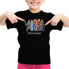 Funny Girls Kids T-shirt - Eddard, Catelyn, Robb, Sansa, Arya, Brian, Rickon and Tony Stark ( Parody)