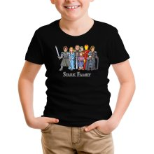 Funny Kids T-Shirt - Eddard, Catelyn, Robb, Sansa, Arya, Brian, Rickon and Tony Stark ( Parody)