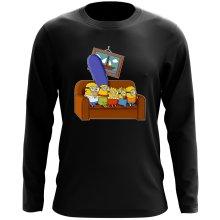 T-Shirts à manches longues  parodique Les Minions et Homer Simpson : The Simnions (Parodie )