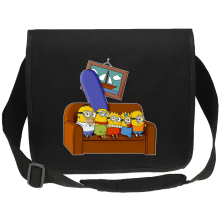 Sacs bandoulière Canvas (French Days)  parodique Les Minions et Homer Simpson : The Simnions (Parodie )