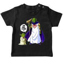 T-shirt bébé  parodique Yoda et Dieu : Ton père... Je suis !! (Parodie )