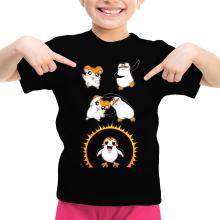 T-shirt Enfant Fille  parodique Porg de Star Wars issu de la fusion de Hamtaro et d